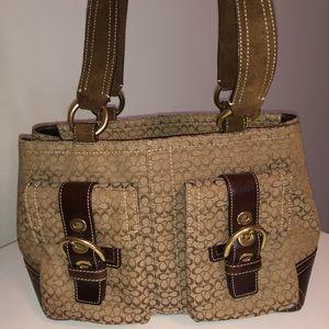 Coach brown signature purse!